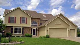 Traditional House Plan 42159 with 4 Beds, 3 Baths, 3 Car Garage Elevation