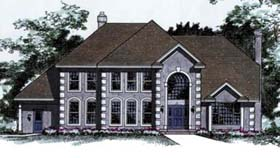 European House Plan 42170 Elevation
