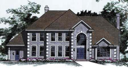 European House Plan 42170 Elevation