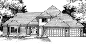 House Plan 42172 Elevation