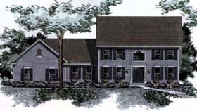 Colonial House Plan 42187 Elevation
