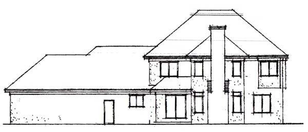 Colonial House Plan 42189 Rear Elevation