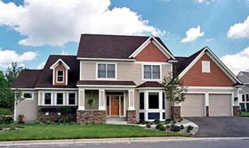 Traditional House Plan 42192 with 4 Beds, 4 Baths, 2 Car Garage Elevation