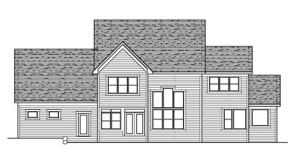 Traditional House Plan 42192 Rear Elevation