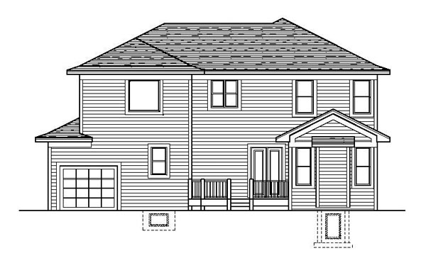 Traditional House Plan 42194 Rear Elevation