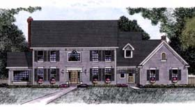 Colonial House Plan 42199 Elevation