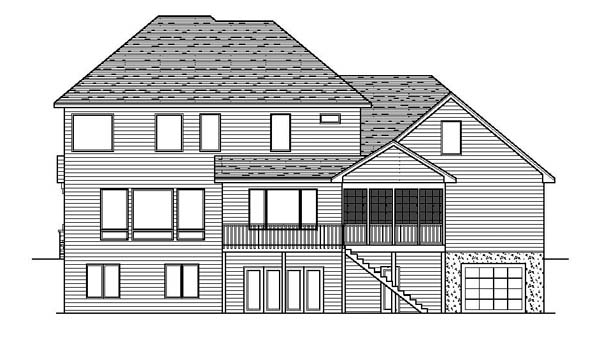 Traditional House Plan 42203 Rear Elevation
