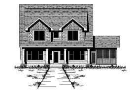 Traditional House Plan 42204 with 4 Beds, 3 Baths Elevation