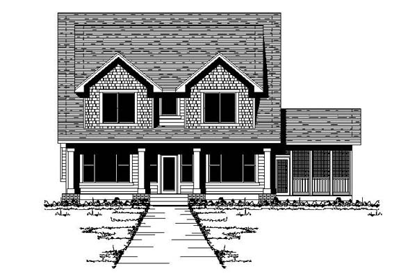 Traditional House Plan 42204 Elevation