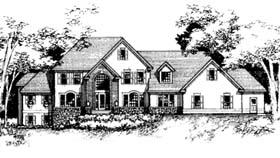 European House Plan 42205 Elevation
