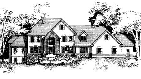European House Plan 42205 Elevation