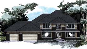 House Plan 42208 | Style Plan with 3432 Sq Ft, 4 Bedrooms, 4 Bathrooms, 3 Car Garage Elevation