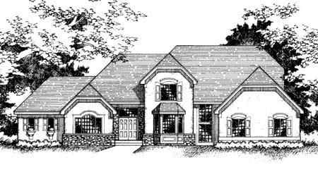 Tudor House Plan 42210 Elevation