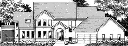 House Plan 42212 | Traditional Style Plan with 3464 Sq Ft, 4 Bedrooms, 4 Bathrooms, 3 Car Garage Elevation