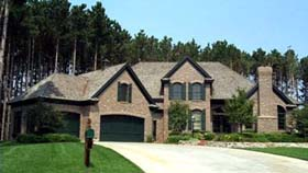 European House Plan 42214 Elevation