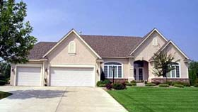 Traditional House Plan 42219 with 3 Beds, 3 Baths, 3 Car Garage Elevation