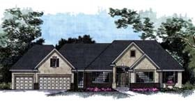 House Plan 42223 with 4 Beds, 4 Baths, 3 Car Garage Elevation