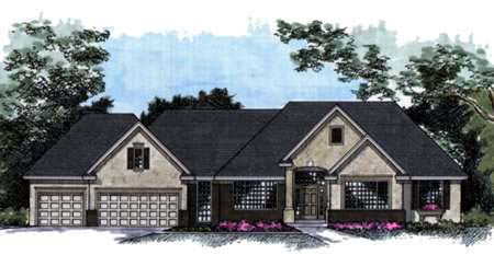 House Plan 42223 Elevation