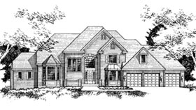 European House Plan 42226 Elevation