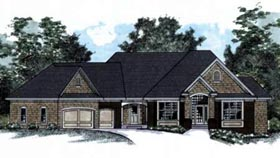 House Plan 42234 with 4 Beds, 4 Baths, 3 Car Garage Elevation