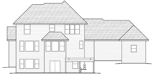 Traditional House Plan 42457 Rear Elevation