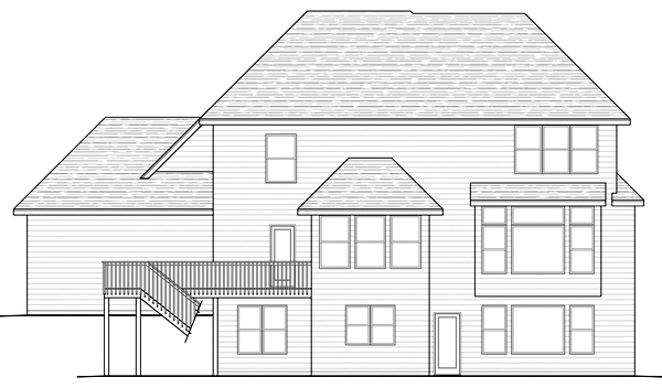 Traditional House Plan 42458 Rear Elevation