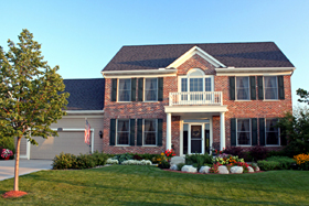 Colonial , Traditional House Plan 42459 with 4 Beds, 3 Baths, 2 Car Garage Elevation