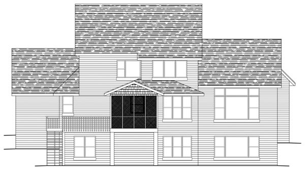 Traditional House Plan 42461 Rear Elevation