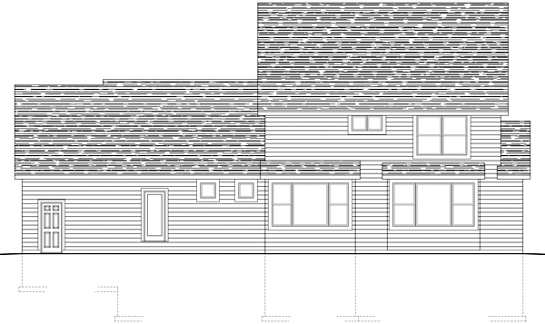 Traditional House Plan 42462 Rear Elevation