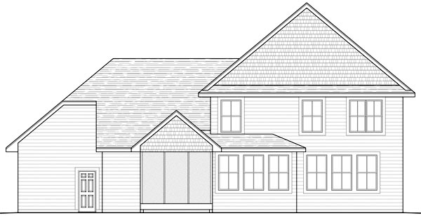 Traditional House Plan 42463 Rear Elevation