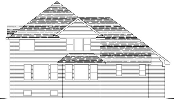 Traditional House Plan 42466 Rear Elevation