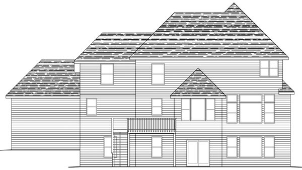 Traditional House Plan 42467 Rear Elevation