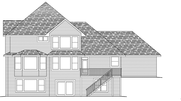 Traditional House Plan 42468 Rear Elevation