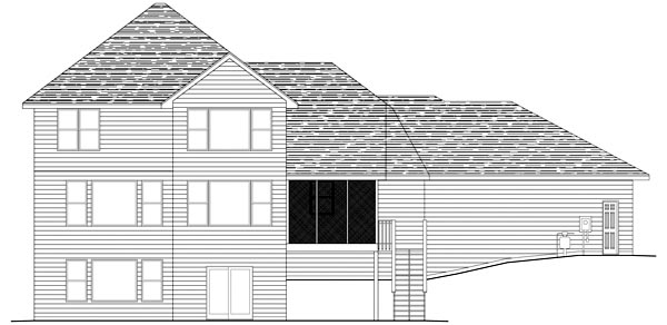 Traditional House Plan 42470 Rear Elevation