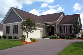 Contemporary , Ranch , Traditional House Plan 42471 with 3 Beds, 3 Baths, 2 Car Garage Elevation