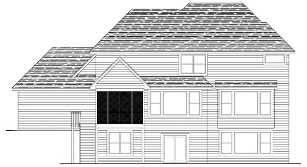 Traditional House Plan 42473 Rear Elevation