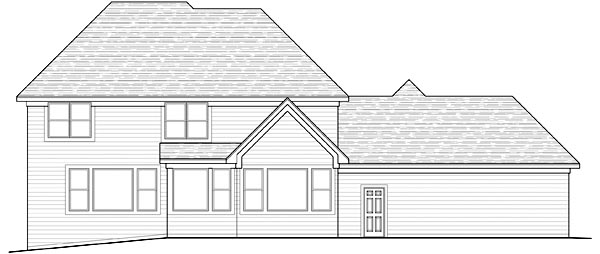 Traditional House Plan 42476 Rear Elevation