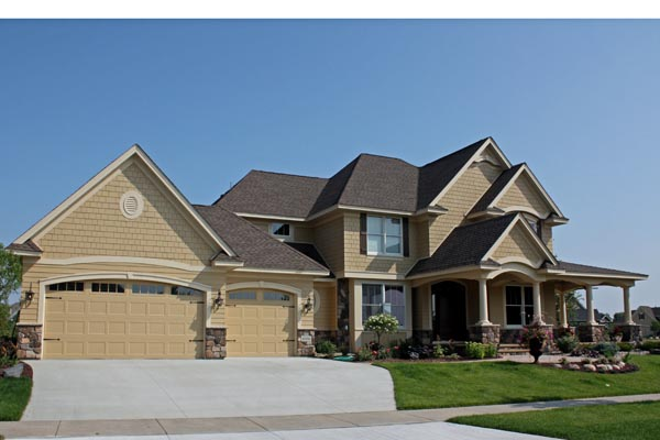 Traditional House Plan 42477 with 4 Beds, 4 Baths, 3 Car Garage Picture 1