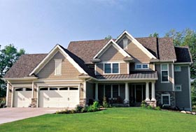Traditional House Plan 42479 with 4 Beds, 4 Baths, 3 Car Garage Elevation