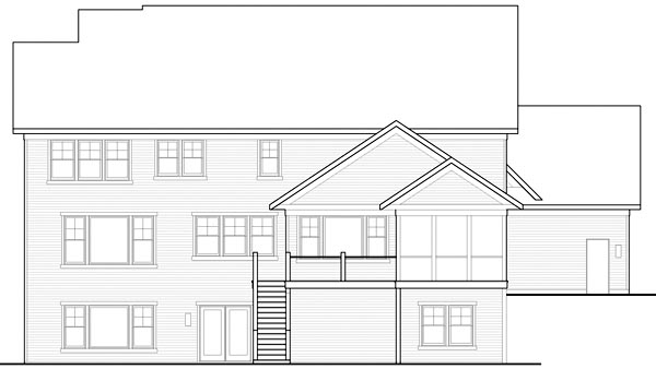 Traditional House Plan 42479 Rear Elevation