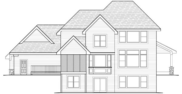 Traditional House Plan 42480 Rear Elevation
