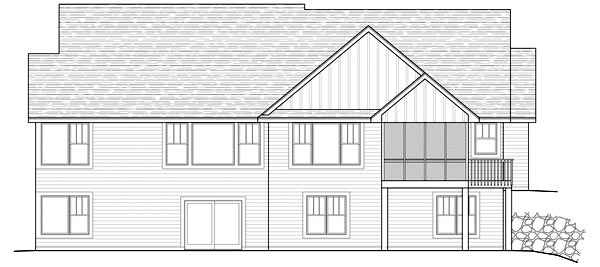 Traditional House Plan 42482 Rear Elevation