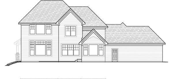 Traditional House Plan 42483 Rear Elevation