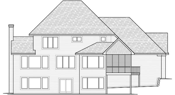Traditional House Plan 42484 Rear Elevation