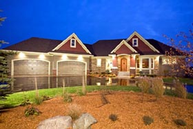 Traditional House Plan 42485 with 4 Beds, 4 Baths, 4 Car Garage Elevation