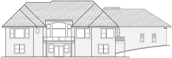 Traditional House Plan 42485 Rear Elevation