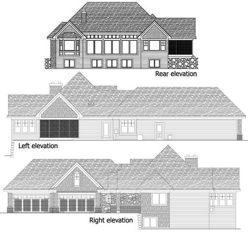 House Plan 42486 | European Traditional Style Plan with 5832 Sq Ft, 4 Bedrooms, 4 Bathrooms, 4 Car Garage