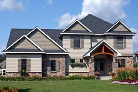 Traditional House Plan 42489 with 3 Beds, 3 Baths, 3 Car Garage Elevation