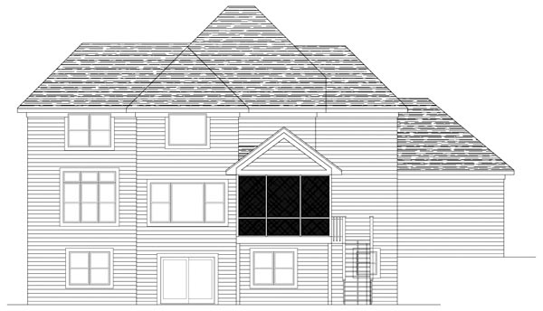 Traditional House Plan 42490 Rear Elevation