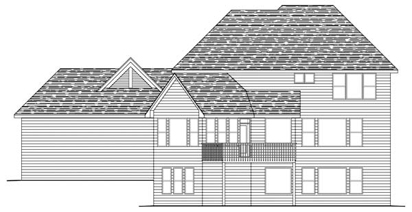 Traditional House Plan 42491 Rear Elevation